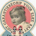 Onno Lether als model op een sticker voor Jonkers kinderwagens