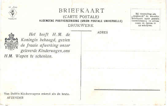 Achterzijde briefkaart