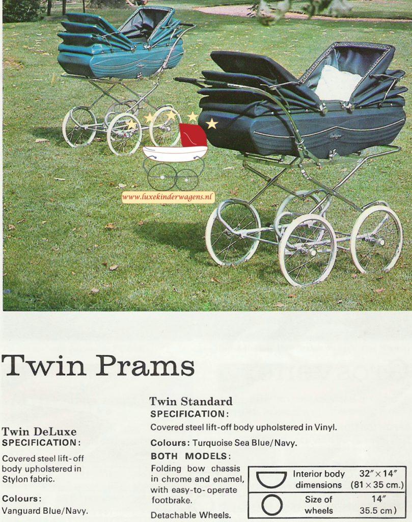 Pedigree tweelingwagens 1972